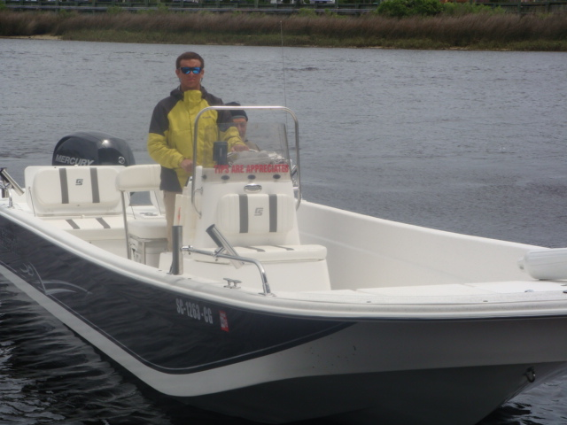 Captain Johnny Schuchman on his boat